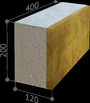 Размер фасадного блока Теплокам